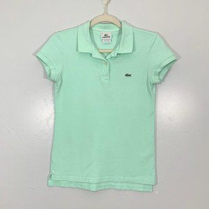 Lacoste Mint Green Embroidered Alligator Shirt